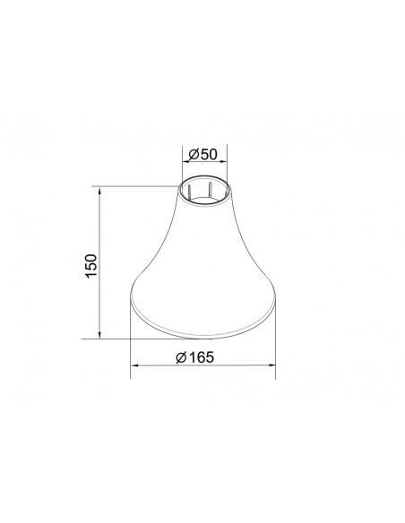 Multibrackets M Pro Series - Inner Ceiling Plate Cover White Multibrackets 7350073736287 - 5
