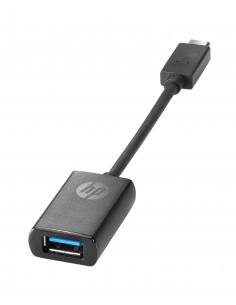 HP USB-C to USB 3.0 Adapter Musta Hp N2Z63AA#AC3 - 1