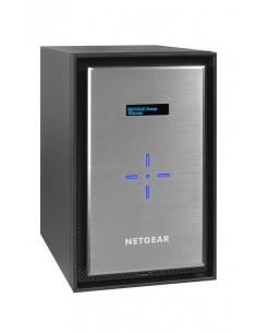 Netgear ReadyNAS 528X NAS Mini Tower Nätverksansluten (Ethernet) Svart, Silver D1508 Netgear RN528X00-100NES - 1