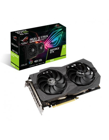 ASUS ROG -STRIX-GTX1650 -4GD6-GAMING NVIDIA GeForce GTX 1650 4 GB GDDR6 Asus 90YV0EI1-M0NA00 - 1