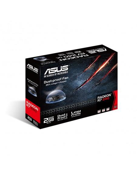 ASUS R7240-2GD5-L AMD Radeon R7 240 2 GB GDDR5 Asustek 90YV0BG1-M0NA00 - 4