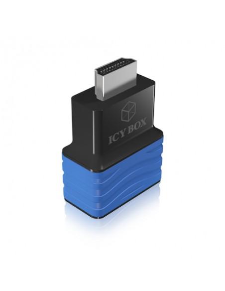 ICY BOX HDMI - VGA, M/F Svart, Blå Raidsonic 70544 - 4
