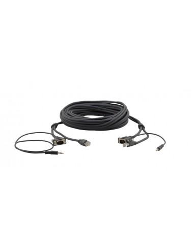Kramer Electronics 92-2212025 kaapeli liitäntä / adapteri VGA, 3.5m, RJ-45 Musta Kramer 92-2212025 - 1