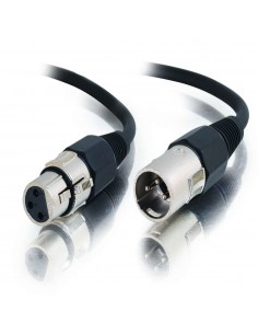 C2G 0.5m Pro-Audio XLR Cable M/F ljudkabel 0.5 m (3-pin) Svart C2g 80376 - 1