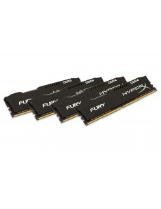 HyperX FURY Black 64GB DDR4 2400MHz Kit RAM-minnen 4 x 16 GB Kingston HX424C15FBK4/64 - 1