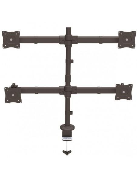"StarTech.com ARMQUAD monitorin kiinnike ja jalusta 68.6 cm (27"") Puristin Musta Startech ARMQUAD - 2"