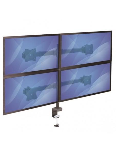 "StarTech.com Desk Mount Quad Monitor Arm - Ergonomic VESA 4 2x2 up to 27"" Articulating & Height Adjustable Pole Startech ARMQUAD"