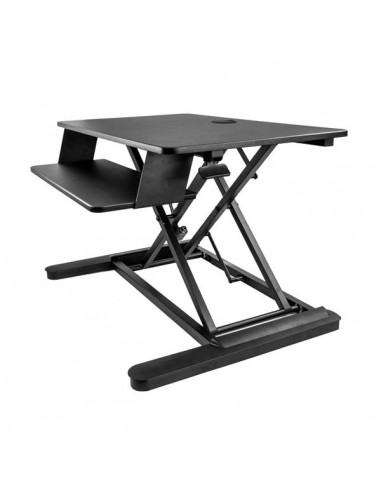 "StarTech.com Sit Stand Desk Converter with Keyboard Tray - Large 35"" x 21"" Surface Height Adjustable Ergonomic Desktop/Tabletop"