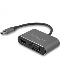 StarTech.com USB-C till VGA- och HDMI-adapter - 2-i-1 4K 30 Hz rymdgrå Startech CDP2HDVGA - 1