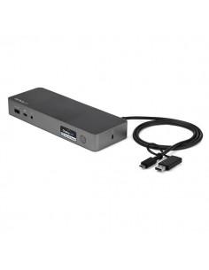 StarTech.com USB-C & USB-A Dock - Hybrid Universal Laptop Docking Station w/ Dual Monitor 4K60Hz HDMI DisplayPort USB 3.1 Gen 1