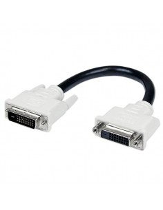 StarTech.com 6in DVI-D Dual Link Digital Port Saver Extension Cable M/F Startech DVIDEXTAA6IN - 1
