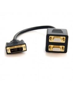 StarTech.com DVISPL1VV videokaapeli-adapteri 0.3 m DVI-I 2 x VGA (D-Sub) Musta Startech DVISPL1VV - 1