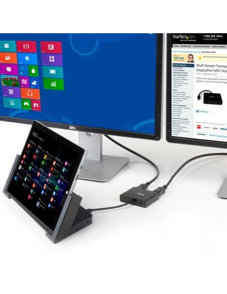StarTech.com Mini DisplayPort to Multi-Monitor Splitter - 3-Port MST Hub Startech MSTMDP123DP - 9