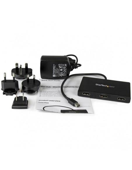 StarTech.com Mini DisplayPort till HDMI-flerskärmssplitter - MST-hubb med 3 portar Startech MSTMDP123HD - 5