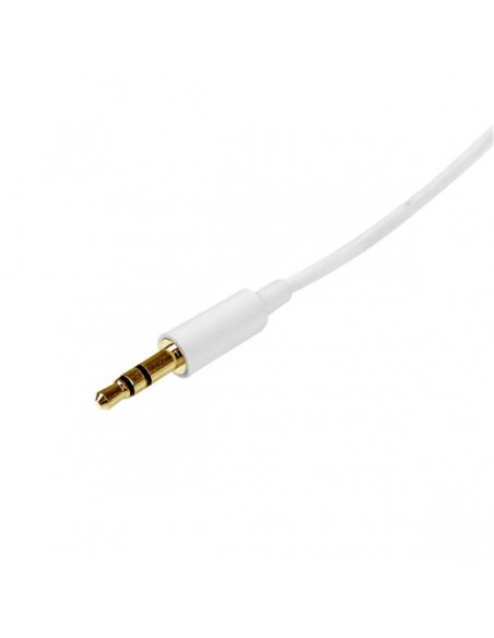 StarTech.com 1m White Slim 3.5mm Stereo - Male to Startech MU1MMMSWH - 2