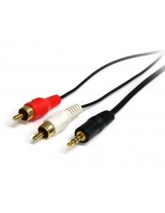 StarTech.com 0.92m, 3.5mm/2xRCA, M/M audiokaapeli 0.92 m Musta Startech MU3MMRCA - 1