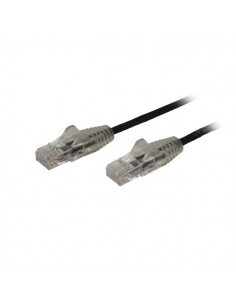StarTech.com 1 m CAT6 Cable - Slim Snagless RJ45 Connectors Black Startech N6PAT100CMBKS - 1