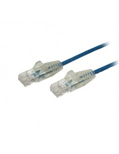 StarTech.com 2 m CAT6-kabel - Tunn Ej hakfria RJ45-kontakter Blå Startech N6PAT200CMBLS - 1