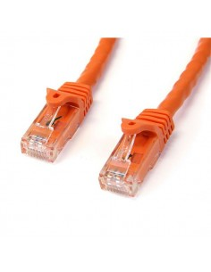 StarTech.com 3ft CAT6 Ethernet Cable - Orange CAT 6 Gigabit Wire -650MHz 100W PoE RJ45 UTP Network/Patch Cord Snagless w/Strain