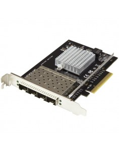 StarTech.com SFP+-servernätverkskort med fyra portar - PCI Express Intel XL710-chip Startech PEX10GSFP4I - 1
