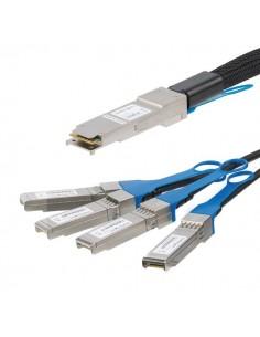 StarTech.com MSA-kompatibel QSFP+-breakout-kabel av twinaxtyp för direktanslutning - 3 m Startech QSFP4SFPPC3M - 1
