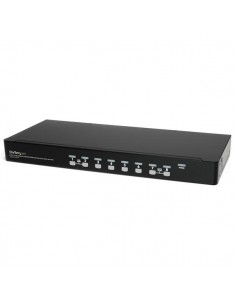 StarTech.com 1U hyllmonterbart USB KVM-switch-paket med 8 portar, OSD och kablar Startech SV831DUSBUK - 1
