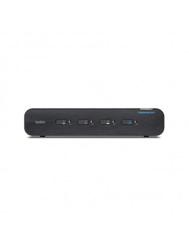 Belkin F1DN204KVM-UN-3 KVM switch Rack mounting Black Linksys F1DN204KVM-UN-3 - 1