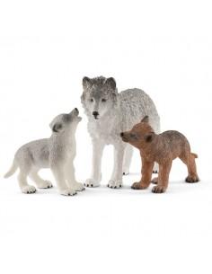 Schleich Wild Life Mother wolf with pups Schleich 42472 - 1