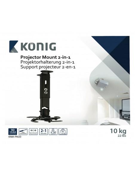 König KNM-PM20 projektorin kiinnike Katto/seinä Musta König KNM-PM20 - 10