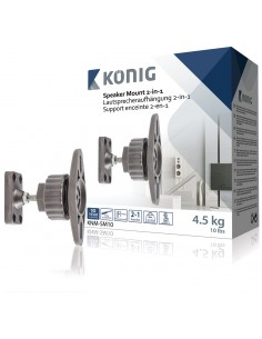 König KNM-SM10 kaiutinteline Seinä Metalli Harmaa König KNM-SM10 - 1