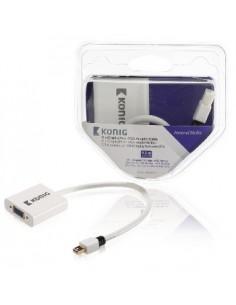 König KNM37850W02 cable gender changer Mini DisplayPort VGA Valkoinen König KNM37850W02 - 1