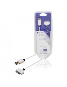 König KNM39100W20 matkapuhelimen kaapeli Valkoinen 2 m USB A Apple 30-pin König KNM39100W20 - 1