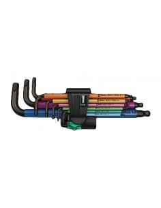 Wera 950 Spkl9 Hex-plus Hex Key Set L-muotoinen kuusiokoloavainsetti Metrinen/brittiläinen 9 kpl Wera 05073593001 - 1