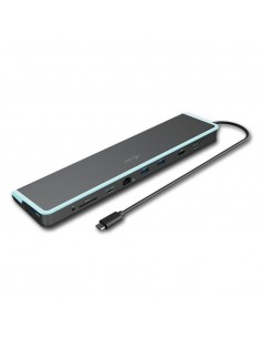 i-tec C31FLATDOCKPDV2 kannettavien tietokoneiden telakka ja porttitoistin Langallinen USB 3.0 (3.1 Gen 1) Type-C Harmaa I-tec Do