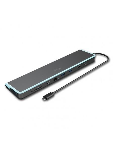 i-tec C31FLATDOCKPDV2 kannettavien tietokoneiden telakka ja porttitoistin Langallinen USB 3.2 Gen 1 (3.1 1) Type-C Harmaa I-tec