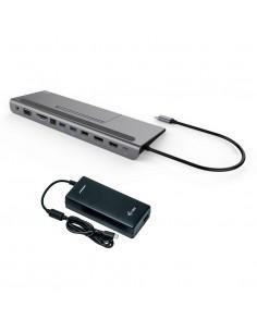 i-tec Metal C31FLATPLUS112W kannettavien tietokoneiden telakka ja porttitoistin Langallinen USB 3.0 (3.1 Gen 1) Type-C Harmaa I-