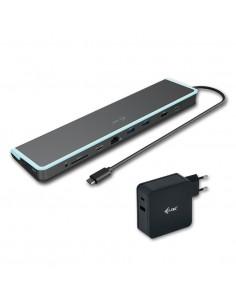 i-tec C31FLATV260W kannettavien tietokoneiden telakka ja porttitoistin Langallinen USB 3.0 (3.1 Gen 1) Type-C Musta, Sininen I-t
