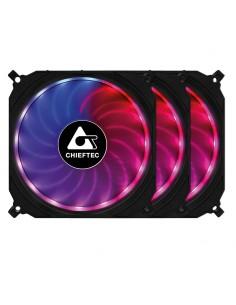 Chieftec CF-3012-RGB tietokoneen jäähdytyskomponentti Tietokonekotelo Tuuletin 12 cm Musta Chieftec CF-3012-RGB - 1