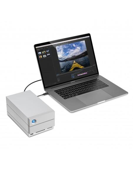 LaCie 2big Dock Thunderbolt 3 16TB levyjärjestelmä Työpöytä Hopea Lacie STGB16000400 - 10