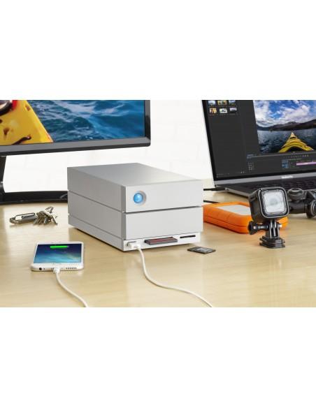 LaCie 2big Dock Thunderbolt 3 levyjärjestelmä 20 TB Työpöytä Harmaa Lacie STGB20000400 - 10