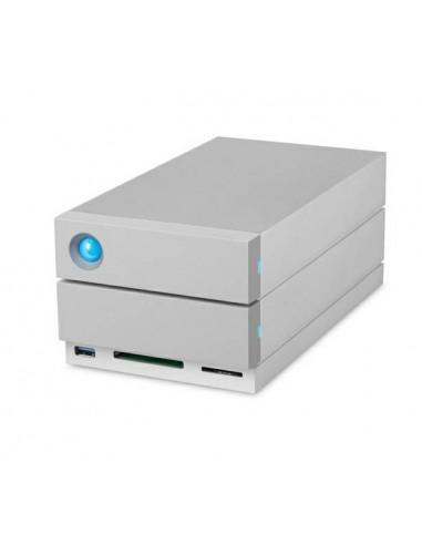 LaCie 2big Dock Thunderbolt 3 levyjärjestelmä 28 TB Työpöytä Harmaa Lacie STGB28000400 - 1