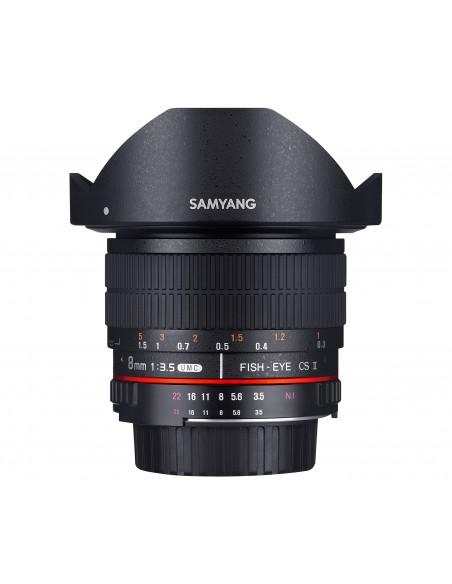 Samyang 8mm F3.5 UMC Fish-Eye CS II SLR Laajakulmaobjektiivi Musta Samyang 21507 - 1