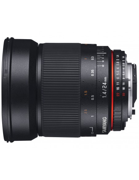 Samyang 24mm F1.4 ED AS IF UMC SLR Laajakulmaobjektiivi Musta Samyang 21513 - 1
