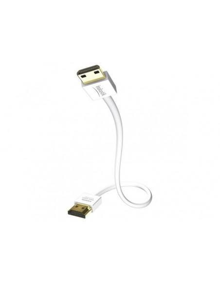 Inakustik 004246807 HDMI-kaapeli 0.75 m HDMI-tyyppi A (vakio) Valkoinen In - Akustik 004246807 - 1
