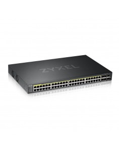 Zyxel GS2220-50HP-EU0101F verkkokytkin Hallittu L2 Gigabit Ethernet (10/100/1000) Musta Power over -tuki Zyxel GS2220-50HP-EU010