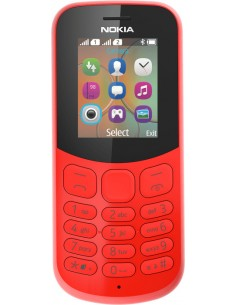 "Nokia 130 4.57 cm (1.8"") Punainen Ominaisuuspuhelin Nokia A00028481 - 1"