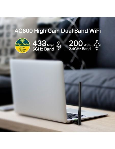 TP-LINK AC600 High Gain Wireless Dual Band USB Adapter WLAN 600 Mbit/s Sisäinen Tp-link ARCHER T2U PLUS - 3