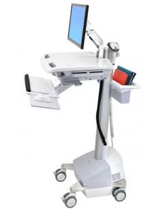 Ergotron SV42-6201-C multimedialaitteiden kärry ja teline Alumiini, Harmaa, Valkoinen Litteä paneeli Multimediakärry Ergotron SV
