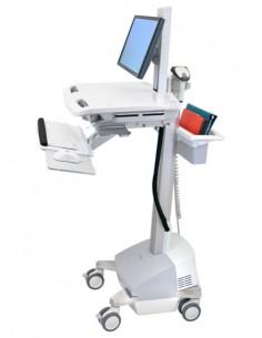 Ergotron StyleView EMR Cart with LCD Pivot, SLA Powered Alumiini, Harmaa, Valkoinen Litteä paneeli Multimediakärry Ergotron SV42