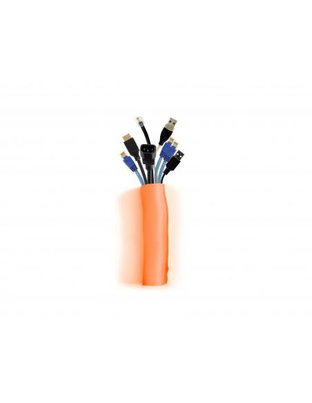 Multibrackets 4559 kaapelinjärjestäjä Kaapelisukka Oranssi 1 kpl Multibrackets 7350073734559 - 1